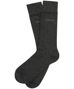 Men's GANT 3 Pack Soft Socks - Charcoal Melange