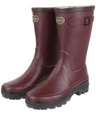 Women's Le Chameau Giverny Botillon Wellington Boots - Cherry