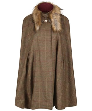 Women's Alan Paine Surrey Cape with Faux Fur