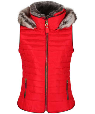 Women's Joules Melbury Hooded Gilet - Red