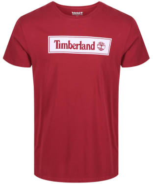 Men's Timberland Short Sleeve Elevated Linear Tee - Pomegranate Linear