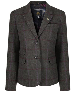 Women's Joules Wiscombe Tweed Blazer - Green Tweed
