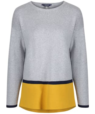 Women's Joules Uma Milano Sweater - Grey / Ochre Block