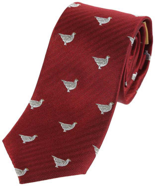 Men's Schoffel Waltham Silk Tie - Red Ptarmigan