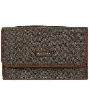 Women's Schoffel Tweed Fold Up Toiletry Bag - Cavell Tweed