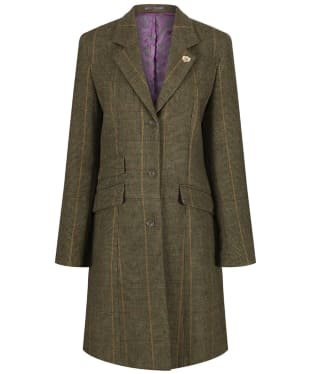 Women's Alan Paine Combrook Tweed Mid Length Coat - Heather
