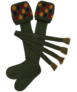 Men's Schöffel Ptarmigan II Socks - Dark Olive / Ochre / Brick / Navy