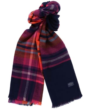 Women's Joules Berkley Scarf - French Navy Check