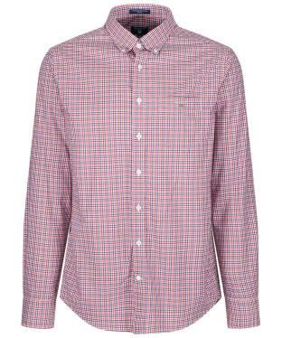 Men's GANT Broadcloth Gingham Shirt - Winter Wine