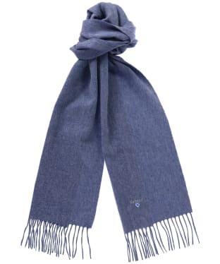 Barbour Plain Lambswool Scarf - Denim Blue
