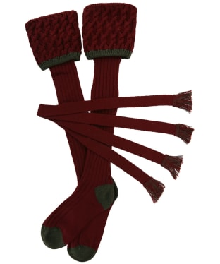 Men's Schoffel Lattice Socks - Mulberry
