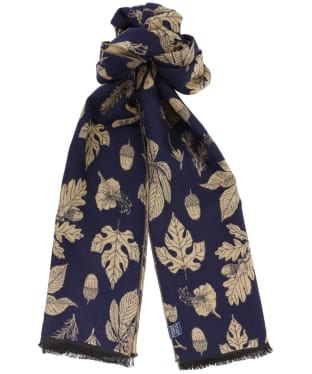 Women's Joules Jacquelyn Scarf - Navy Etched Botanical
