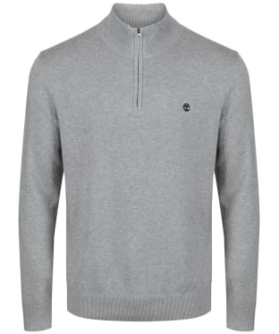 Men's Timberland Williams River Half Zip Sweater - Grey Heather