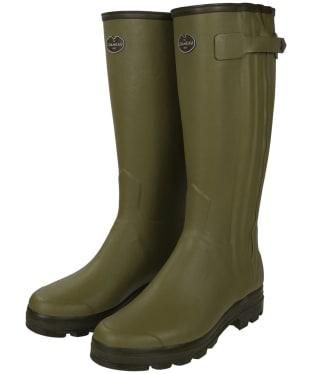 Le Chameau Chasseur Jersey Wellington Boots - Vert Vierzon