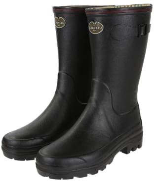 Women's Le Chameau Giverny Botillon Wellington Boots - Black