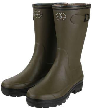 Women's Le Chameau Giverny Botillon Wellington Boots - Vert Chameau