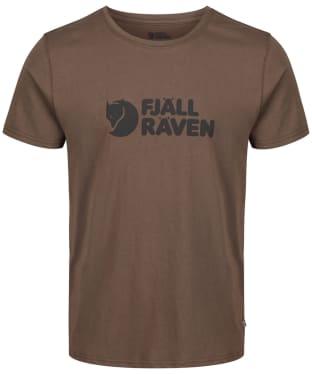 Mens Fjallraven Logo T-Shirt - Tarmac