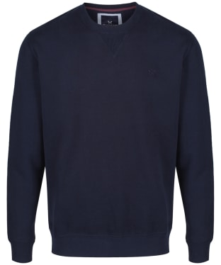 Men's Crew Clothing Logo Sweatshirt - Dark Navy