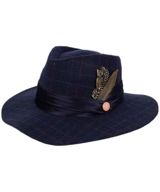Jack Murphy Leixlip Tweed Hat - Navy Check