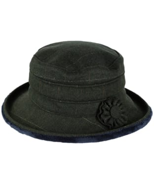 Women's Jack Murphy Celbridge Tweed Hat - Olive Check