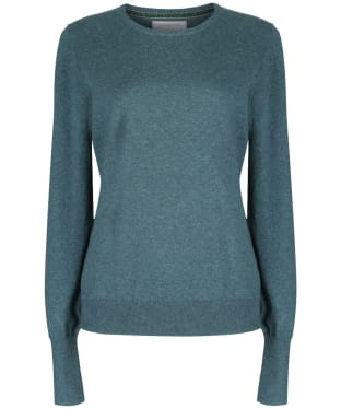 Women's Schoffel Cotton Cashmere Crew Neck Sweater - Kingfisher