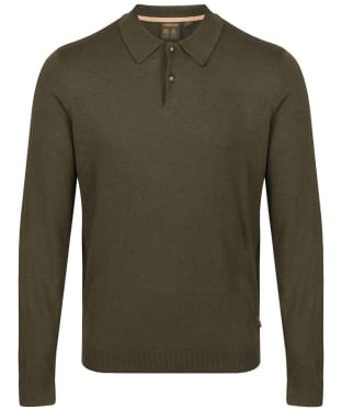 Men's Musto Polo Collar Knit Sweater - Moss