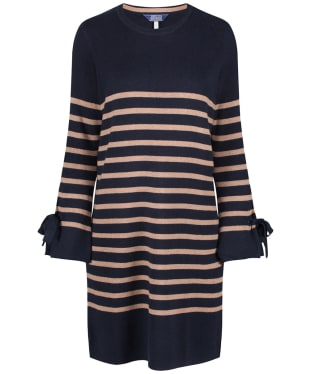 Women's Joules Brianne Knitted Tie Sleeve Tunic - Navy / Camel