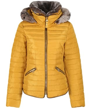 Women's Joules Gosling Short Padded Jacket - Caramel