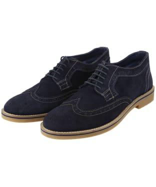 Men's Joules Keel Suede Casual Brogue Shoes - Navy