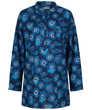 Women's Seasalt Polpeor Tunic Shirt - Anemones Night