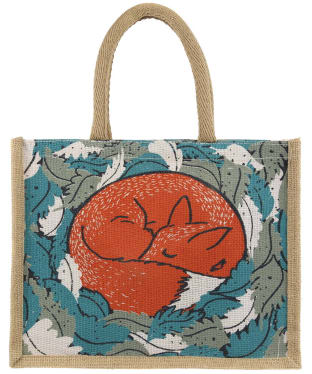 Women's Seasalt Cute Jute Bag - Sleeping Fox
