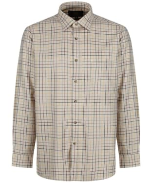 Men's Viyella Coloured Ground Tattersall Shirt - Camel