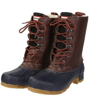 Women's Hunter Original Insulated Pac Boots - Burnt Sienna / Navy