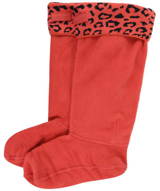 Women's Hunter Original Snow Leopard Boot Socks - Honeysuckle Leopard Jacquard