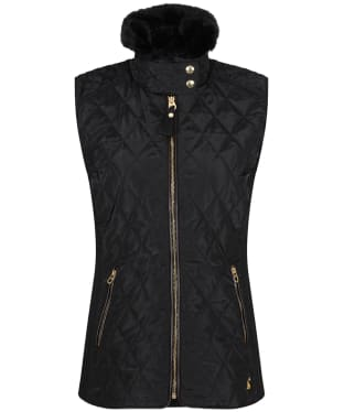 Women's Joules Inverness Quilted Gilet - Black