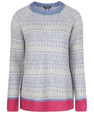 Women's Joules Justina Fairisle Sweater - Dark Grey Fairisle