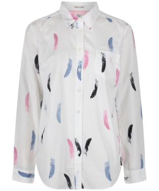 Women's Joules Lucie Print Shirt - Cream Guinea Feather