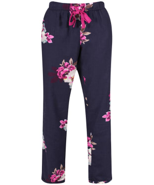 Women's Joules Snooze Woven Pyjama Bottoms - French Navy Bircham Bloom