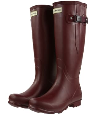 Women's Hunter Norris Field Side Adjustable Wellington Boots - Dulse