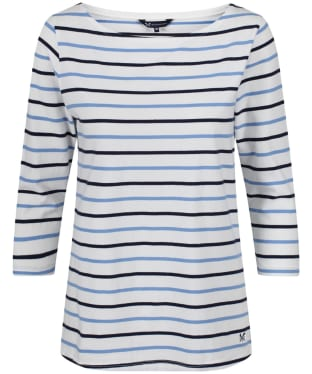 Women's Crew Clothing Essential Breton Top - White / Light Indigo / Navy