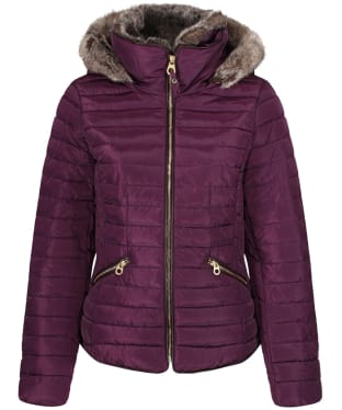 Women's Joules Gosling Short Padded Jacket - Burgundy