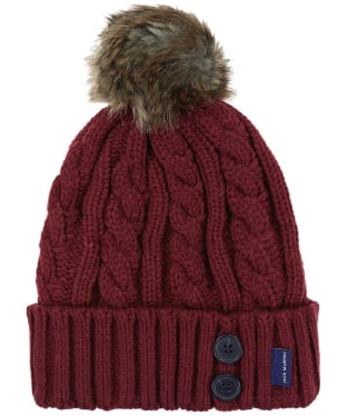 Jack Murphy Blessington Bobble Hat - Winter Burgundy