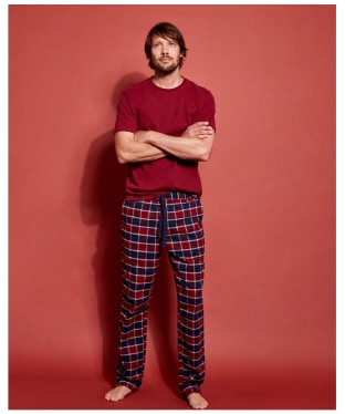 Men's Joules Goodnight Lounge Gift Set - Red Check