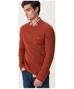 Men's GANT Shetland Crew Sweater - Rust Melange
