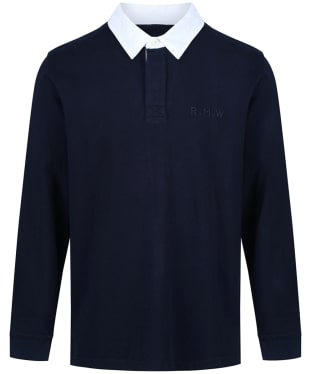 Men's R.M. Williams Tweedale Rugby Shirt - Navy / White