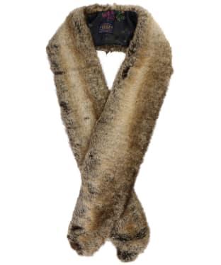 Women's Joules Colette Faux Fur Scarf - Reindeer