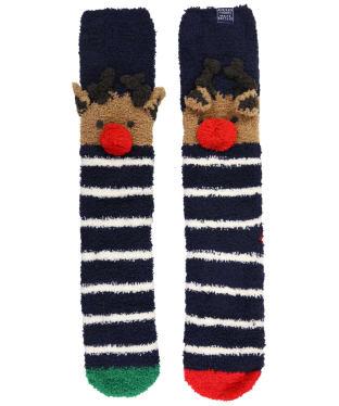 Women's Joules Festive Fluffy Character Socks - Reindeer