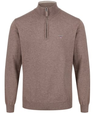 Men's GANT Super Fine Zip Sweater - Seawood Melange