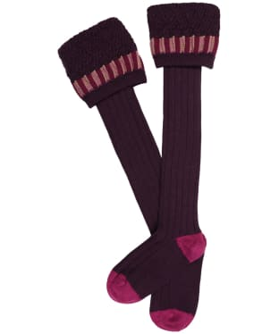 Men's Pennine Bristol Shooting Socks - Plum