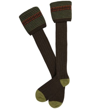 Men's Pennine Cumbrian Shooting Socks - Mocha